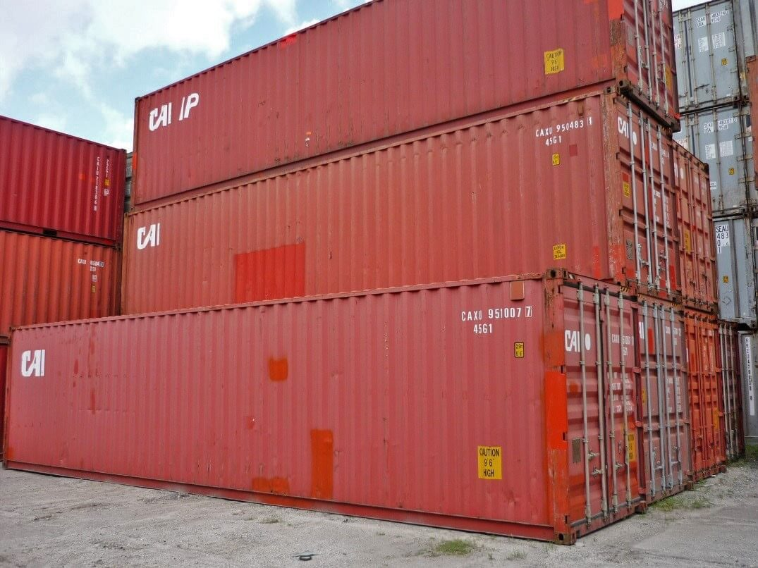 40' High Cube Used Cargo Containers - TSI Containers